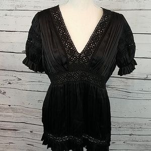 Silk black Med blouse, Laundry by Shelli Segal